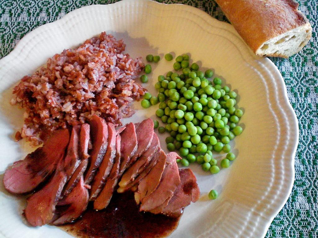 Magret de canard au porto et la gel e de pommettes - Cuisiner magret de canard a la poele ...