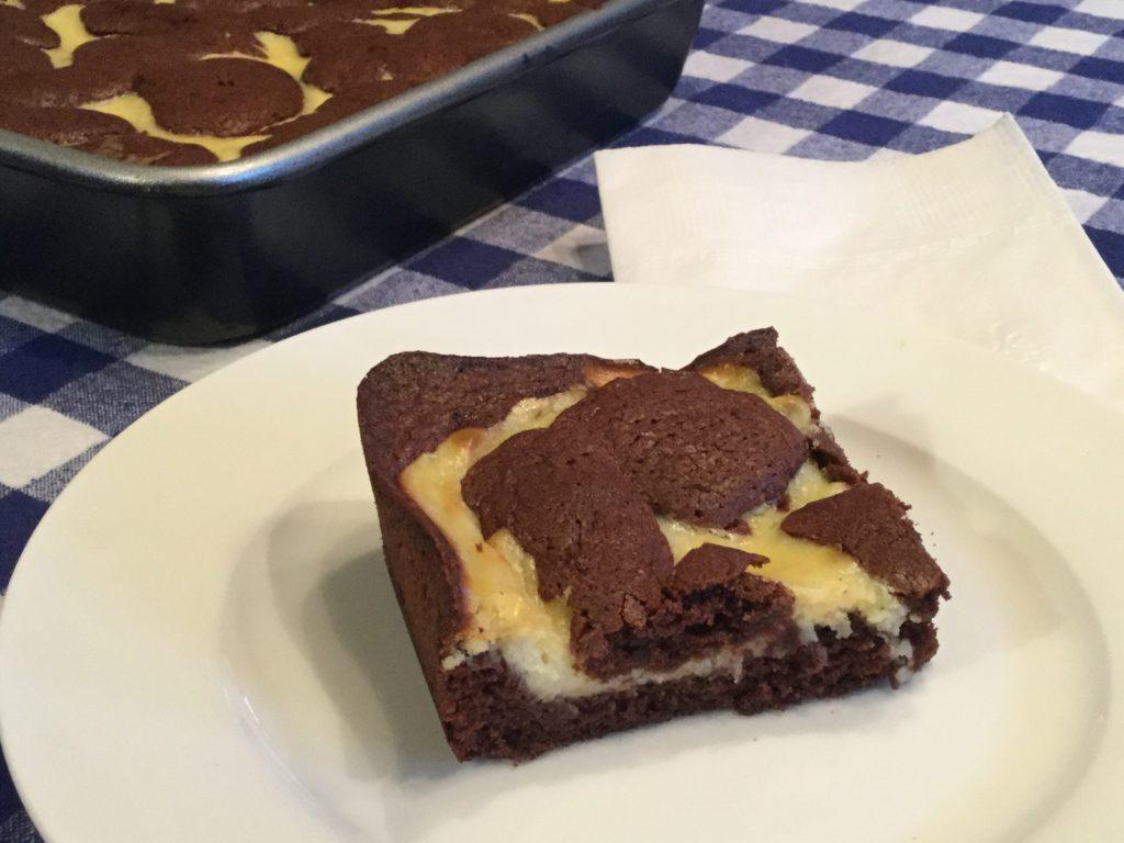 carrés au chocolat et fromage