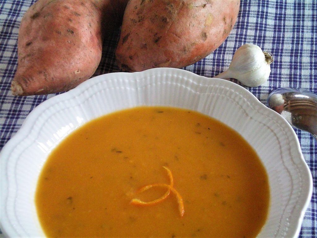 Potage à la patate douce