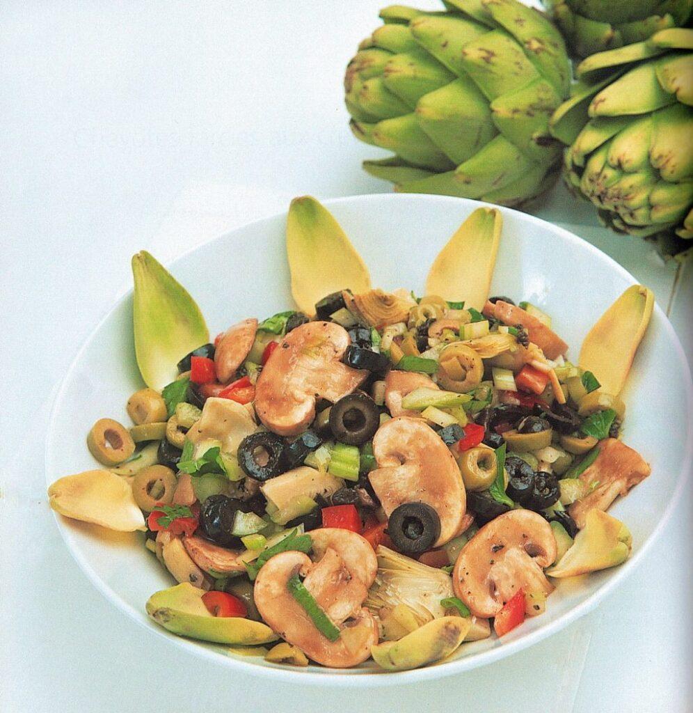 Salade de champignons et d'olives