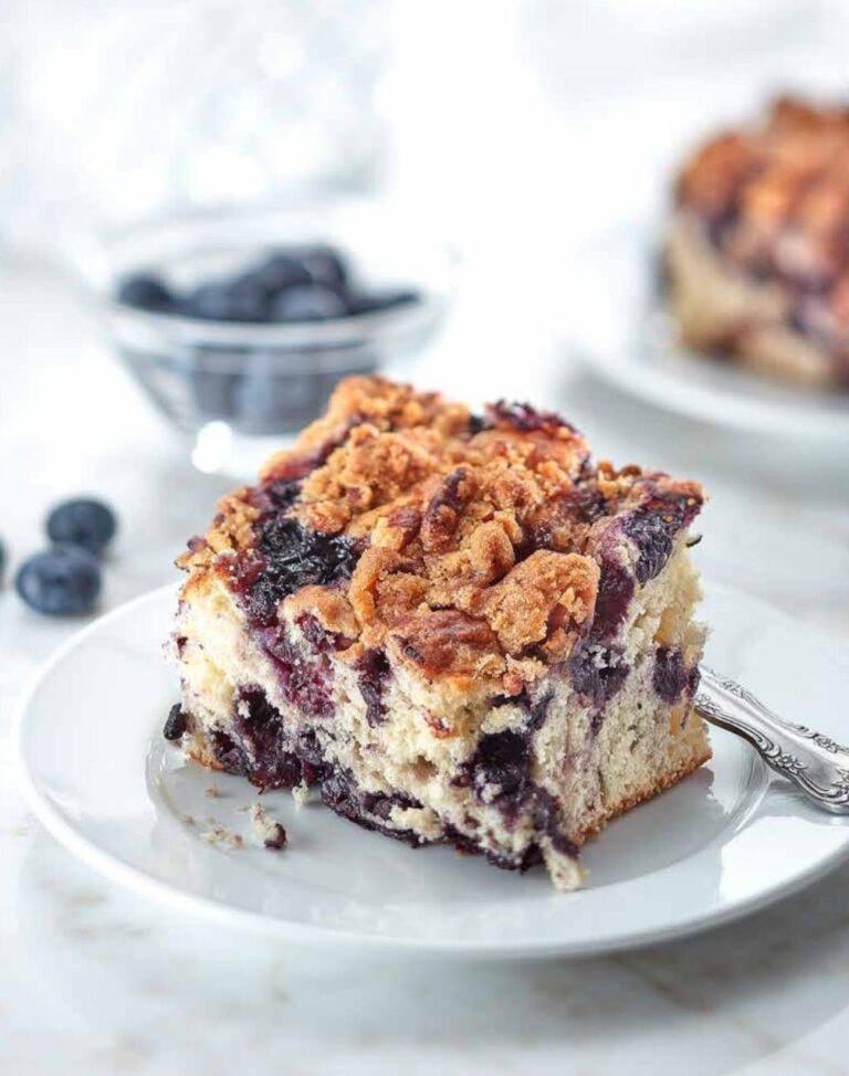 Gâteau streusel aux bleuets