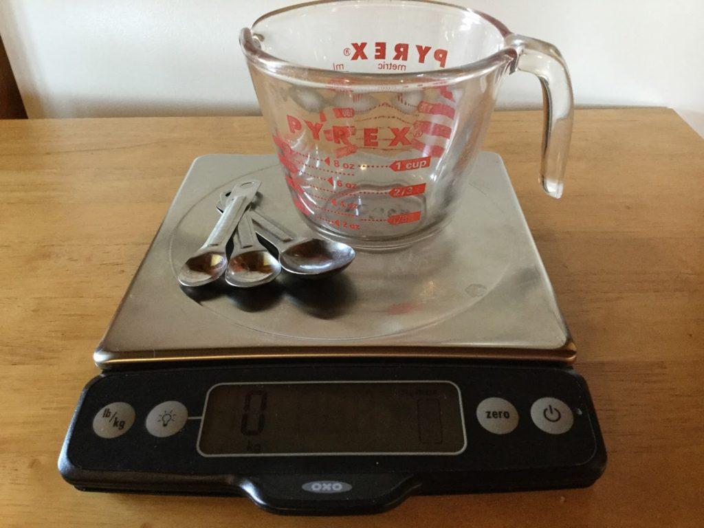 Conversion volume-poids des aliments