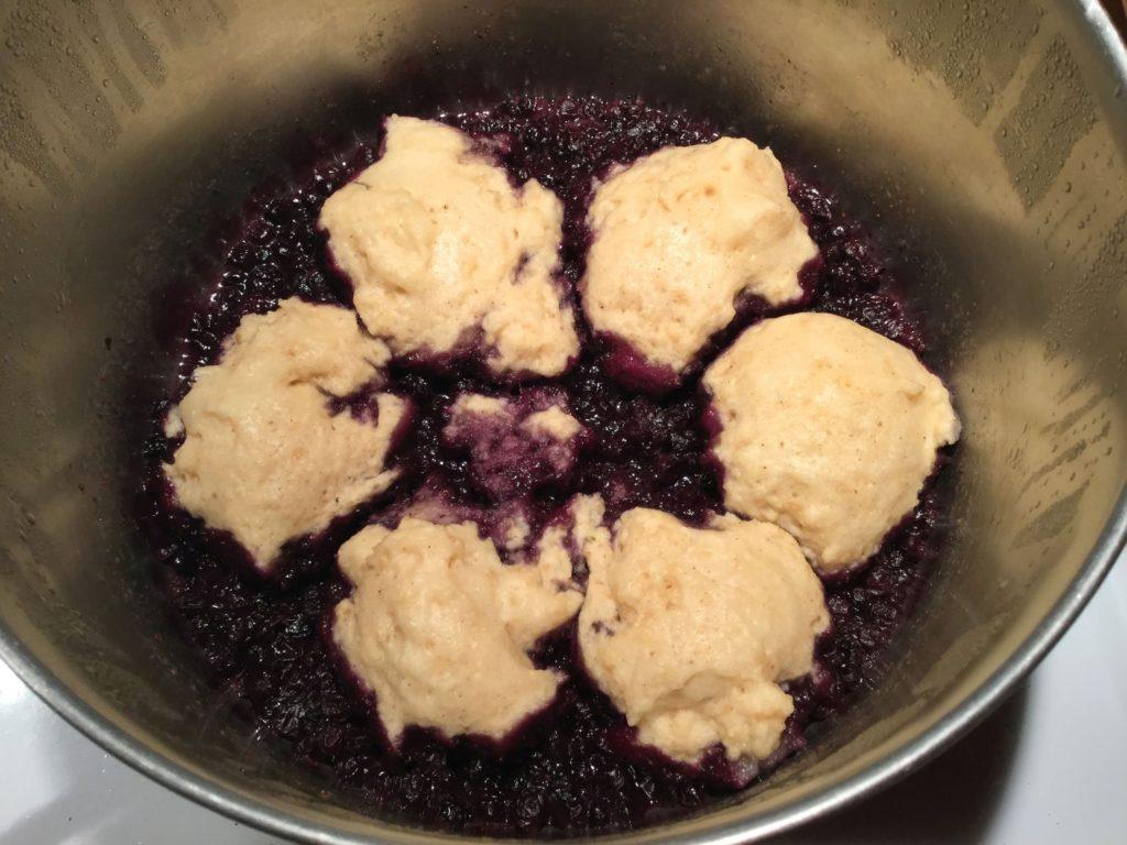 Blueberry grunt casserole