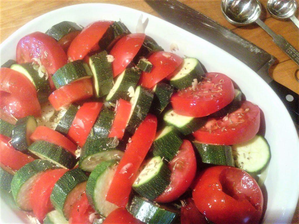 Casserole courgettes et tomates au four
