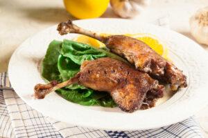 Salade confit de canard