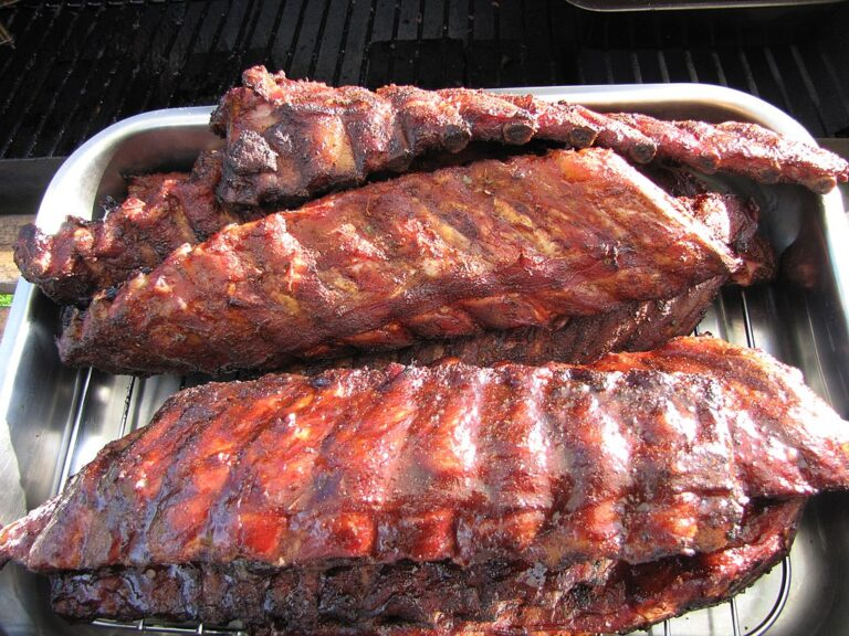 Côtes levées de porc barbecue