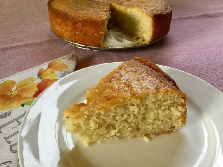 Gâteau citron lavande