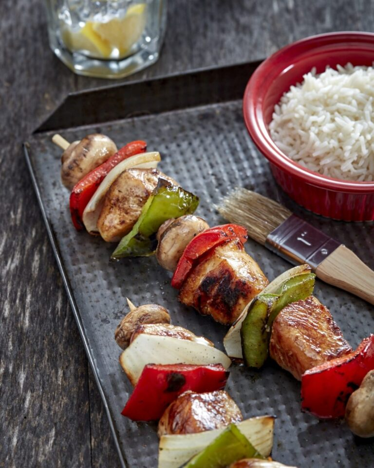 Maple Chicken Kebabs
