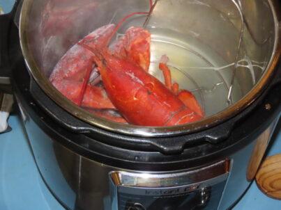 Cuisson du homard dans l'Instant Pot