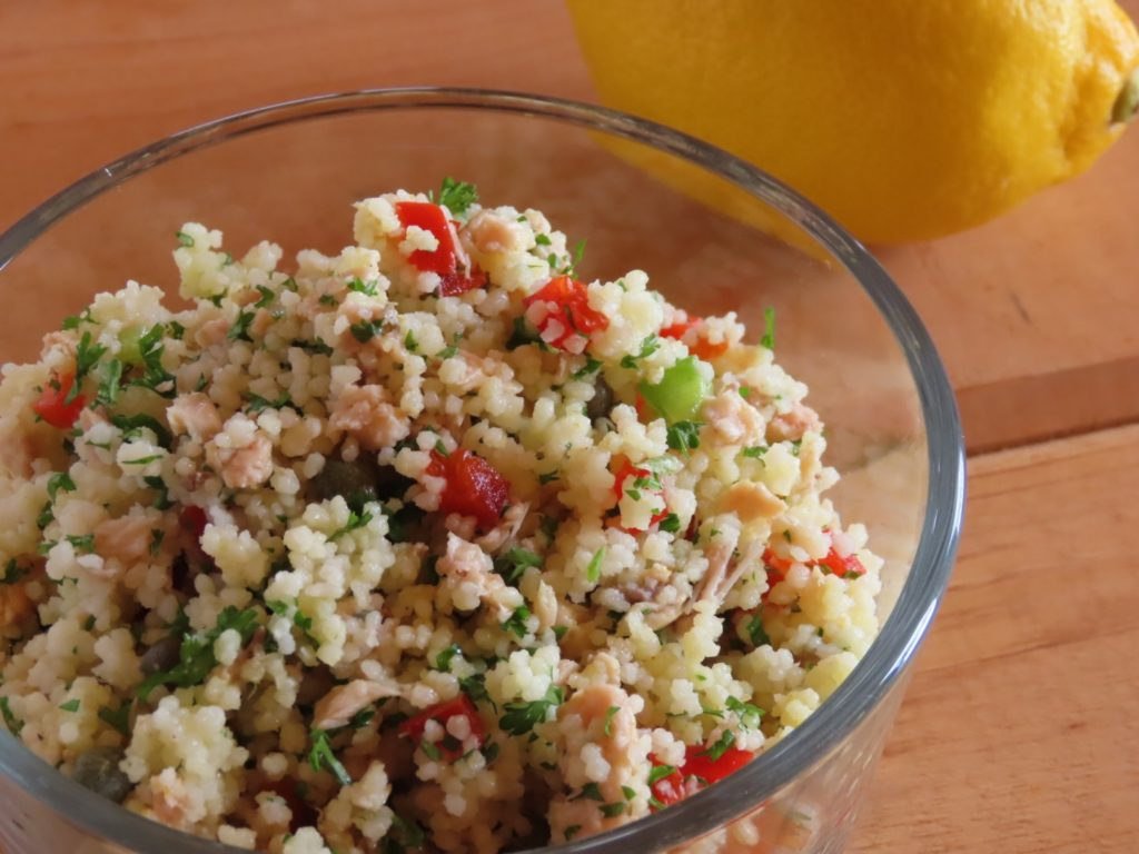 Couscous Salmon Salad